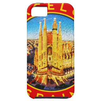 Barcelona, Spain, circle, red iPhone 5 Cover