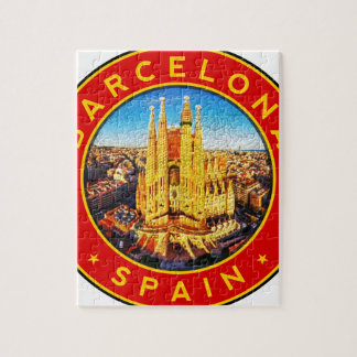 Barcelona, Spain, circle, red Jigsaw Puzzle
