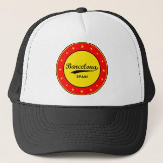 Barcelona, Spain, circle Trucker Hat