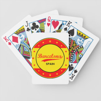 Barcelona, Spain, circle with flag colors Bicycle Playing Cards