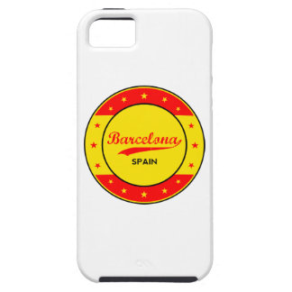 Barcelona, Spain, circle with flag colors Case For The iPhone 5