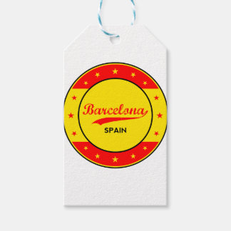 Barcelona, Spain, circle with flag colors Gift Tags