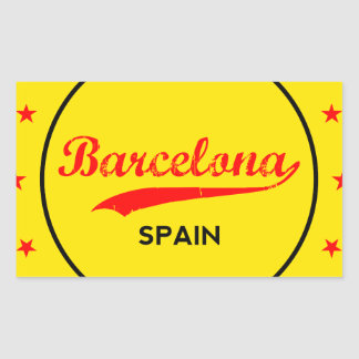 Barcelona, Spain, circle with flag colors Sticker