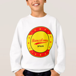Barcelona, Spain, circle with flag colors Sweatshirt