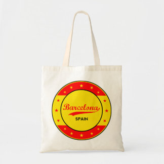 Barcelona, Spain, circle with flag colors Tote Bag