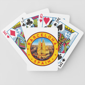 Barcelona, Spain, circle, yellow Bicycle Playing Cards