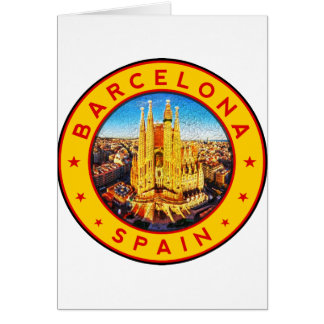 Barcelona, Spain, circle, yellow Card