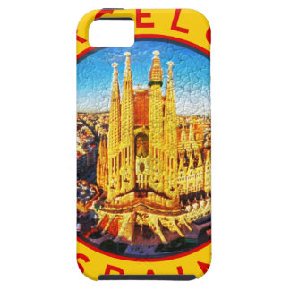 Barcelona, Spain, circle, yellow iPhone 5 Case
