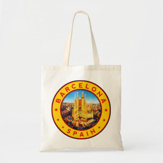 Barcelona, Spain, circle, yellow Tote Bag
