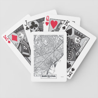 Barcelona, Spain | City Map Bicycle Playing Cards