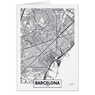 Barcelona, Spain | City Map Card
