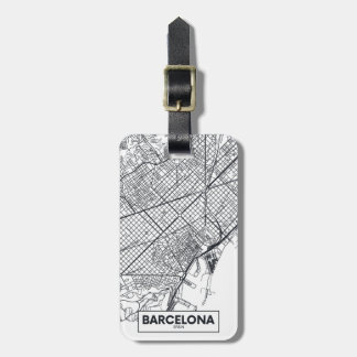 Barcelona, Spain | City Map Luggage Tag