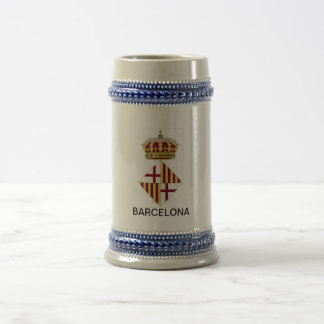 Barcelona (Spain) Coat of Arms Beer Stein