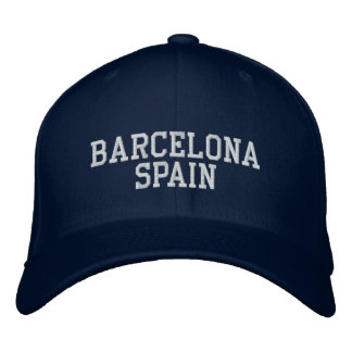 Barcelona Spain Embroidered Hat