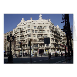 Barcelona, Spain, Gaudi, greeting card
