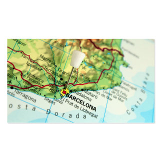 Barcelona, Spain Map Business Card