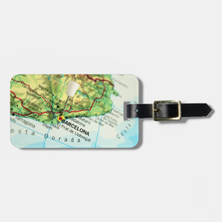 Barcelona, Spain Map Luggage Tag