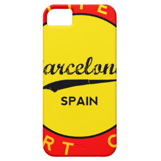 Barcelona, Spain, red circle, art iPhone 5 Cover