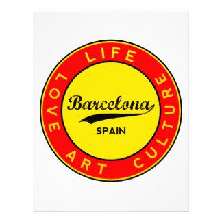 Barcelona, Spain, red circle, art Letterhead