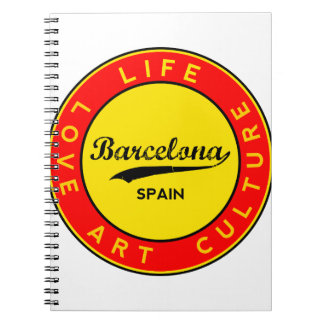 Barcelona, Spain, red circle, art Notebook
