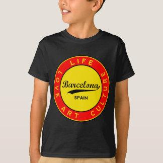Barcelona, Spain, red circle, art T-Shirt