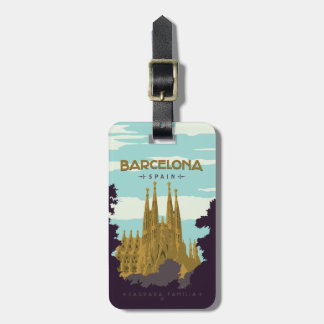 Barcelona, Spain - Sagrada Familia Luggage Tag