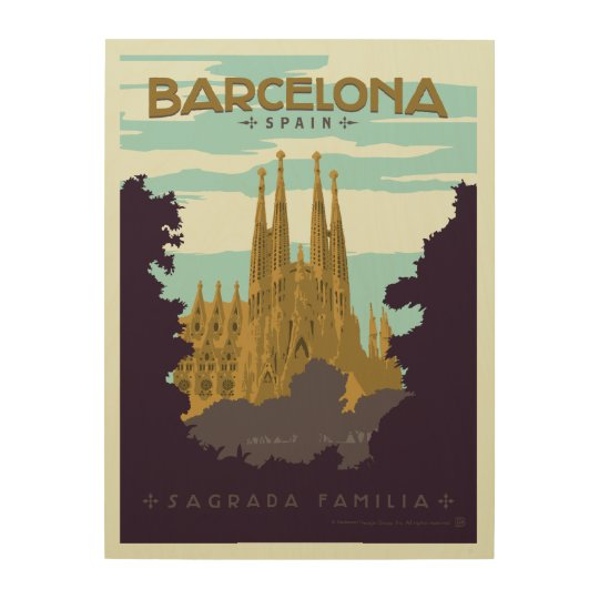 Barcelona, Spain - Sagrada Familia Wood Print