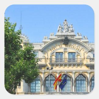 Barcelona, Spain Square Sticker