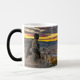 Barcelona Spain, Sunset Morphing Mug