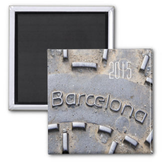 Barcelona Spain Travel Fridge Magnet Change Year