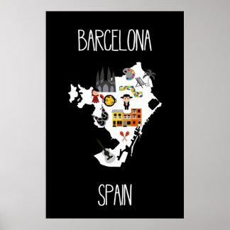 Barcelona, Spain, Travel Poster