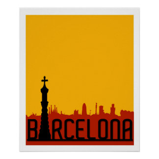 Barcelona, Spain, Travel Poster