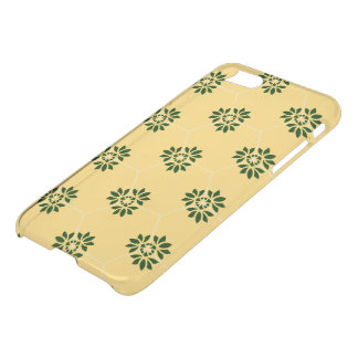 Barcelona tile flower pattern in yellow and green iPhone 7 case