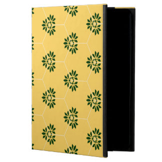 Barcelona tile flower pattern in yellow and green powis iPad air 2 case