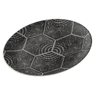 Barcelona Tiles Grey Porcelain Plate