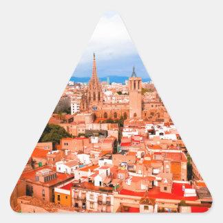 Barcelona Triangle Sticker