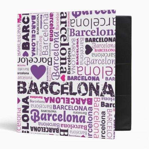 Barcelona typography photo album binder