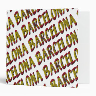 Barcelona Typography Spanish Flag Colors Spain Vinyl Binders