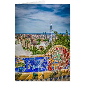 Barcelona Unique Photographic Modern Art Card