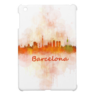 Barcelona watercolor Skyline v04 Case For The iPad Mini