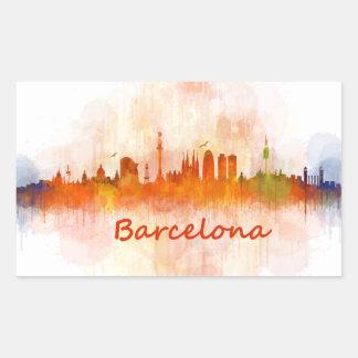 Barcelona watercolor Skyline v04 Sticker