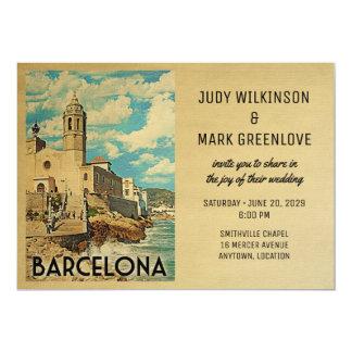 Barcelona Wedding Invitation Vintage Spain