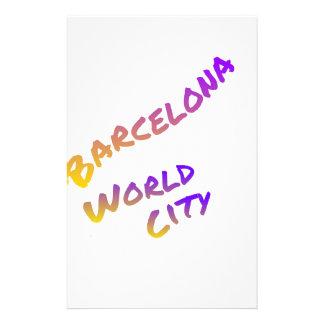 Barcelona world city letter art color Europa spain Stationery