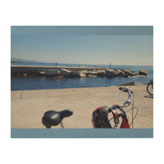 Barcelonian Pier Wood Canvas
