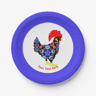 Barcelos Rooster Portuguese National Emblem Paper Plate