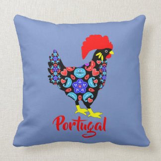 Barcelos Rooster Portuguese National Emblem Throw Pillow