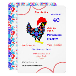 Barcelos Rooster Portuguese Party Theme Card