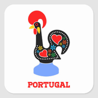 Barcelos Rooster Square Sticker