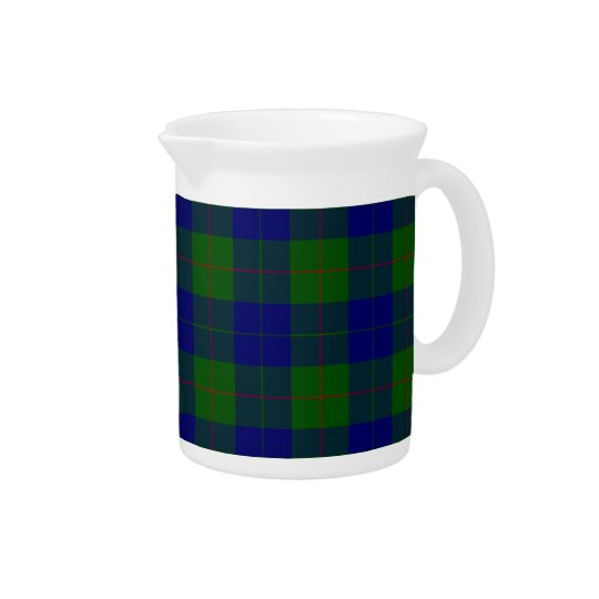 Barclay clan tartan blue green plaid pitcher