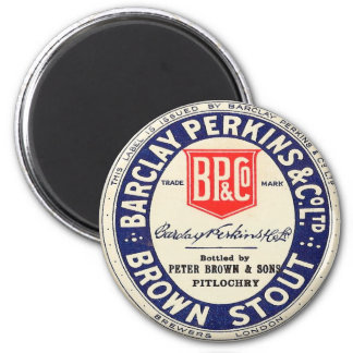 Barclay Perkins Brown Stout 2 Inch Round Magnet